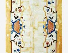 Tavolo intarsiato Greca