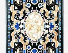 Tavolo intarsiato Due blu