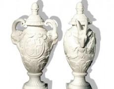 Vaso in marmo Ariete