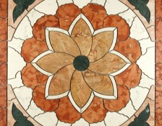 Mosaico rosone tulipano