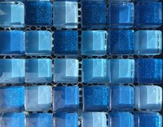 Mosaico alba blu