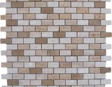 Mosaico muretto travertini