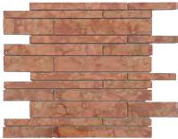 Mosaico rosso Verona multibrick lucido