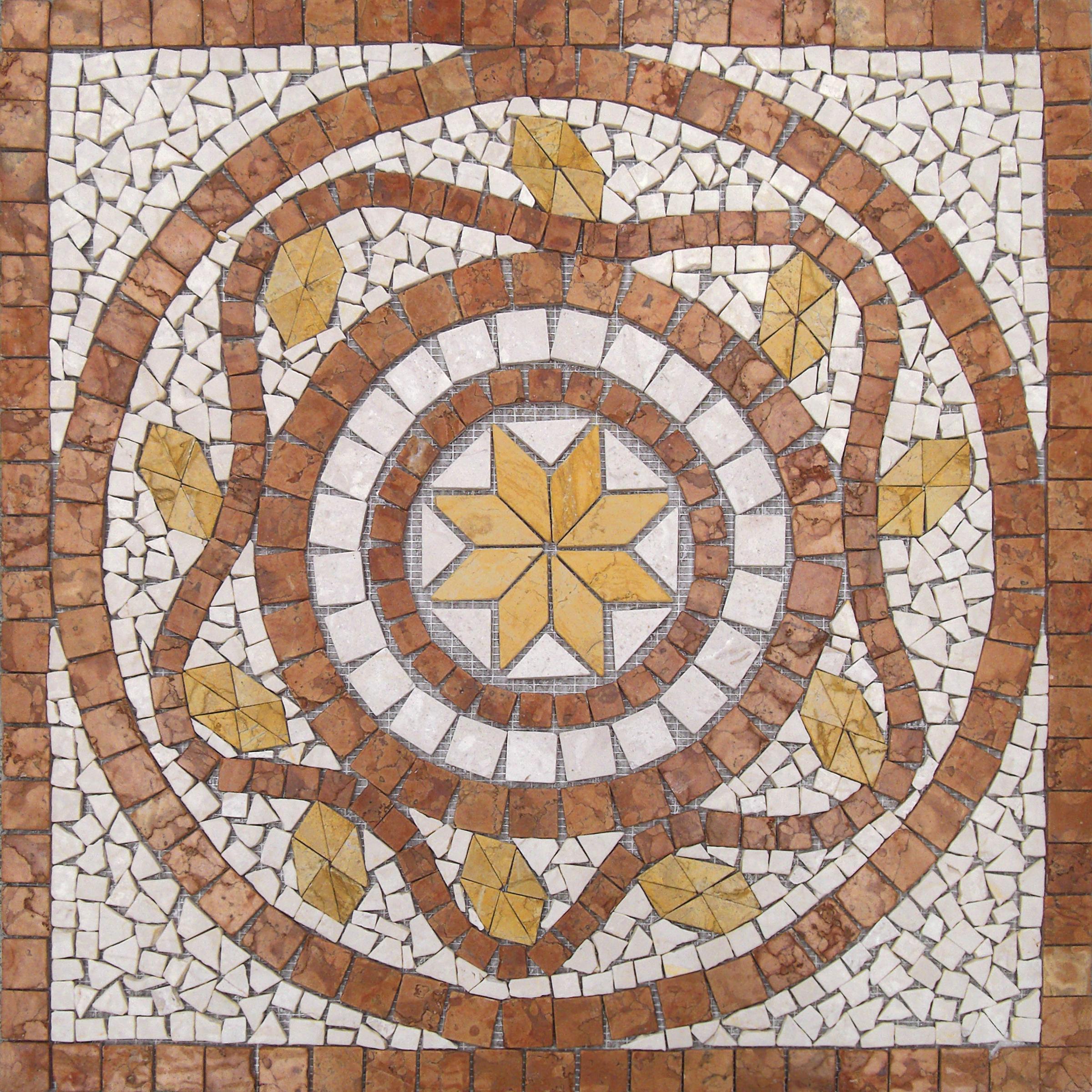 Mosaico rosone alfa pietre raffaele cileo pietra di for Pavimenti mosaici per interni