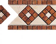 Mosaico a fasce Emilia rosso
