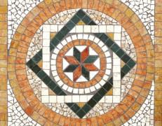 Mosaico rosone Fantasi giallo