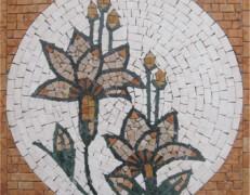 Mosaico fiore rosso