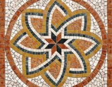 Mosaico rosone Florium rosso
