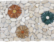Mosaico sassi di fiume