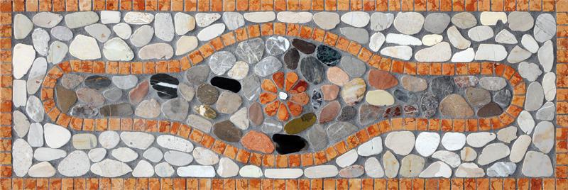 Mosaico sassi di fiume pietre raffaele cileo pietra di for Sassi di fiume