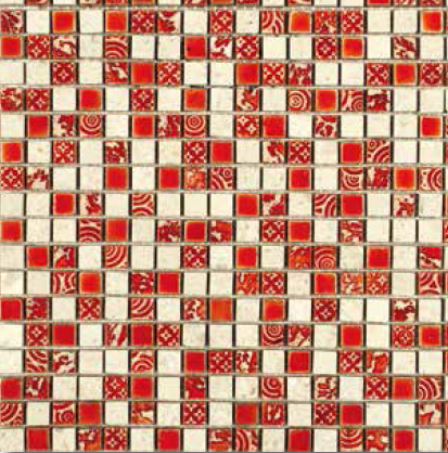 Mosaico Glamour red