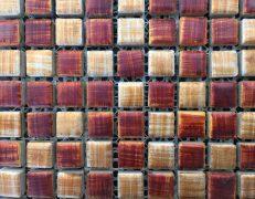 Mosaico bronzo rosso