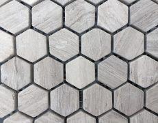 Mosaico esagono tortora grigio