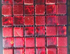 Mosaico alba rosso