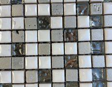 Mosaico bianco crystal