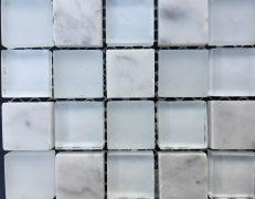 Mosaico marmo bianco crystal