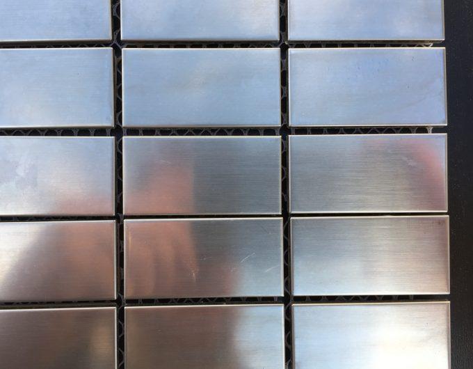 Mosaico metal inox
