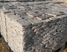 Pietra di Trani retrosegata tranciata anticato piano cava