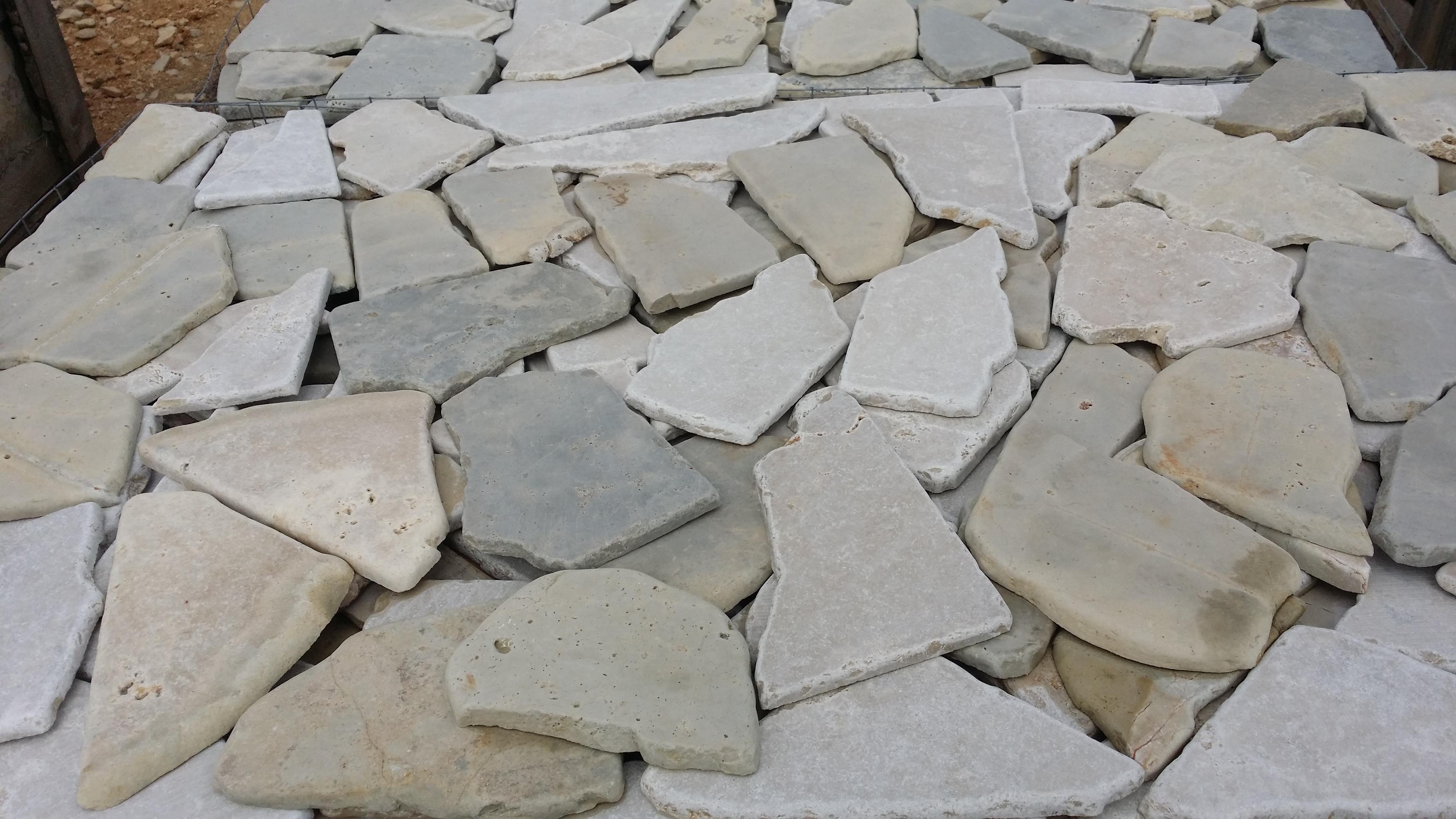 Muro Fatto In Pietra murgese mélange anticata mosaico e mosaichetto - pietre