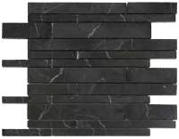 Mosaico nero Marquina multibrick lucido