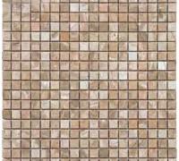 Mosaico travertino noce levigato
