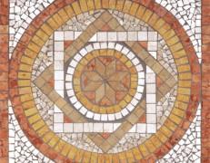 Mosaico rosone Fantasi rosso