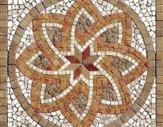 Mosaico rosone Florium noce