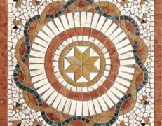 Mosaico rosone rosa rosso