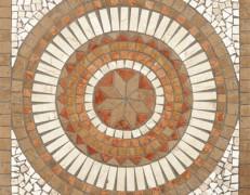 Mosaico rosone Sahara noce