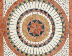 Mosaico rosone Sahara rosso