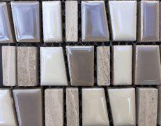 Mosaico bianco multiformato
