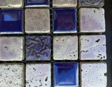 Mosaico blu argento