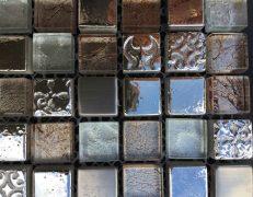 Mosaico grigio metal
