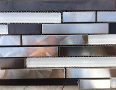 Mosaico metal inox strip