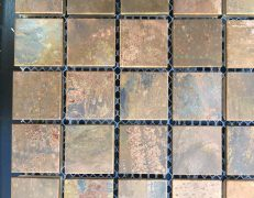 Mosaico metal rame