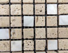 Mosaico travertino perla